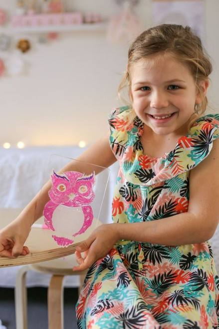 Aloka Night Lights Owl Pink So Excited