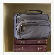 Jacob Cotton Canvas: Gray - Regular Scripture Tote *