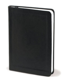 Black Faux Leather - Blank Journal *
