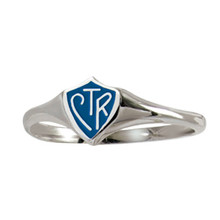 "Mini ""Classic design"" CTR Ring - Blue (Sterling Silver) *"