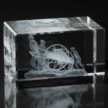 Faith in Every Footstep Crystal Cube *