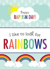 Baptism—Rainbow 5 X 7 Greeting Card *