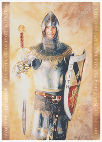 Armour Of God 3X4 Print by Judy Cooley *
