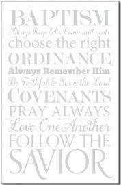 Baptism Program Cover White Words - 50 PACK *