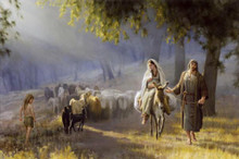 Journey To Bethlehem by Joseph Brickey  5X7 Print *