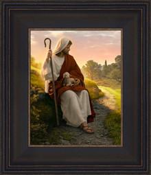 In The Shepherd's Care 12x14 Framed Strata Design by Simon Dewey   *