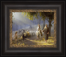 Journey To Bethlehem 15x12 Framed Textured Print  *