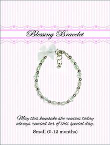 Sterling Silver Blessing Bracelet White  *