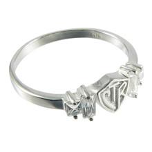 Baguette CTR Ring - Plain (Sterling Silver) *
