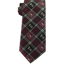 Captain Moroni Burgundy Plaid Men`s Tie ages 14 +