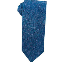 Angel Moroni Teal Paisley Boy Zipper Tie ages 4-10