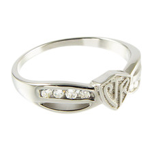 Bow CTR Ring - Plain (Sterling Silver) *