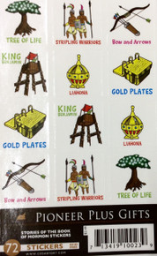 Stories Of The Book Of Mormon Stickers  72 Per Package *