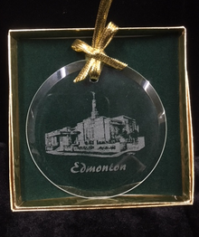 Glass Temple Ornament Etched Edmonton