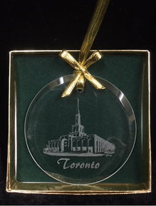 Glass Temple Ornament Etched Toronto