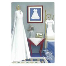 Three White Dresses Baptism Greeting Card