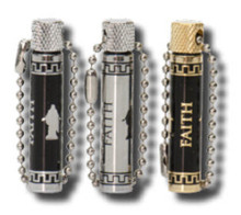 Christus/Faith Oil Vial - Black/Gold *