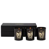 D.L. & Co. Black Delft Skull Votive Gift Set