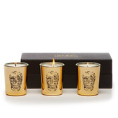 D.L. & Co. Gold Delft Skull Votive Gift Set