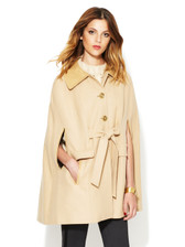Rachel Zoe Wool Leather Cape