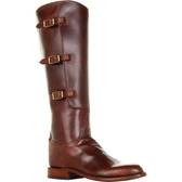 Lucchese Classics Lieutenant Calf Riding Boot (Chocolate)