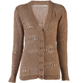 Twelfth St by Cynthia Vincent Tape Yarn Cardigan (Camel)