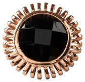 MRE Rose Gold Onyx Ring
