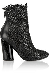 Proenza Schouler Woven Leather Ankle Boot