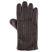 Hilts-Willard Men's Woven Lambskin Gloves (Brown)
