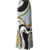 Emilio Pucci Silk Printed Maxi Skirt