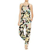 Trina Turk Black Floral Jumpsuit