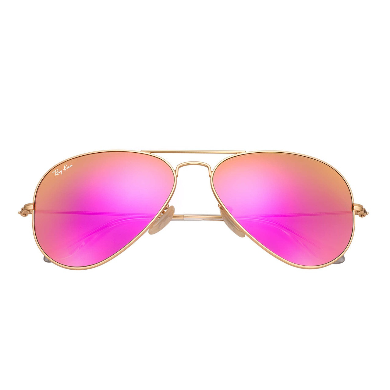 3edbbae6156 Ray-Ban Aviator RB3025 Sunglasses (Gold Cyclamen Mirror)
