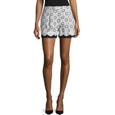 Oscar de la Renta Eyelet Cotton Shorts