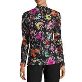 Oscar de la Renta Floral Silk Blouse