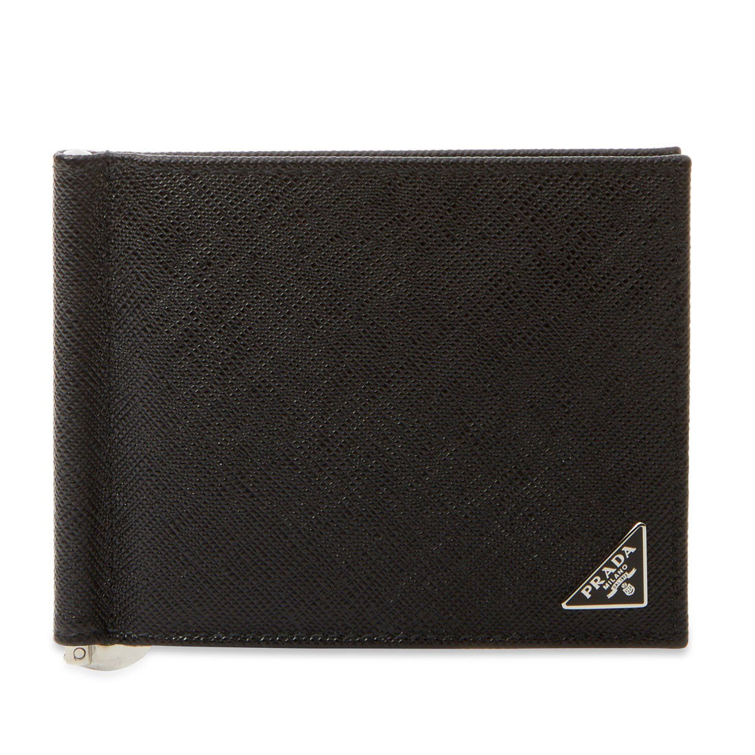 eaaffd4dfde7 ... get prada saffiano leather money clip billfold wallet af595 9464f