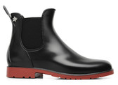 Meduse Chelsea Rain Boot (Black/Red)