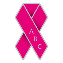 Pink Ribbon Pin Badge