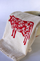 Summer Cows Flour Sack Tea Towel