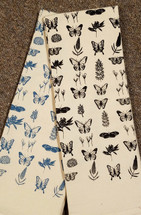 Butterflies Flour Sack Tea Towel