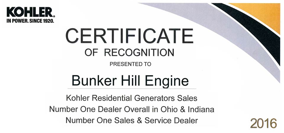 Bunker Hill Engine in Ohio | Engine Service - Kohler, Echo