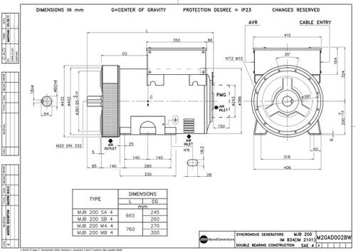 mjb-200 marelli generator