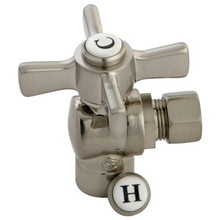 "Kingston Brass CC43208ZX 1/2"" Sweat X 3/8"" Od Compression Angle Valve - Satin Nickel"
