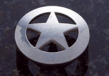 """JVJ 06806 Old Silver Finish 2 1/8"""" C/C 2 1/2"""" Large Star Door Knob"""