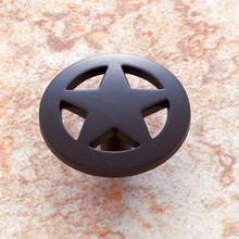 """JVJ 06720 Oil Rubbed Bronze Finish 1 1/2"""" Medium Star Door Knob"""