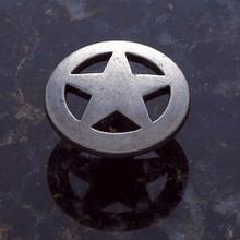 """JVJ 06718 Antique Nickel Finish 1 1/2"""" Medium Star Door Knob"""