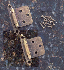 JVJ 10134 Antique Brass Finish Flush Self-Closing Hinge (Pair) - Made of Steel