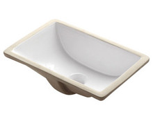 "Madeli CB-1813-WH Ceramic Undermount Sink with Overflow - White 18"" X 12 13/16"" X 6 7/8 """