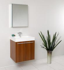 Fresca FVN8058TK Teak Modern 23'' Bathroom Vanity Cabinet W/ Medicine Cabinet  - Teak