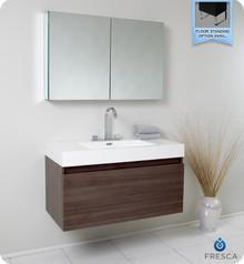 Fresca FVN8010GO Gray Oak Modern 39'' Bathroom Vanity Cabinet W/ Medicine Cabinet  - Gray Oak
