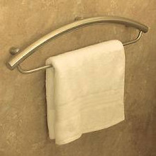 """HealthCraft Invisia INV-TB16-ORB Bathroom Towel Bar 16"""" with Integrated Support Grab Bar - Oil Rubbed Bronze"""